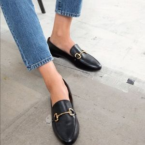 Brand new & other stories black with gold loafers